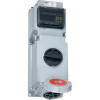 CEE zásuvka s vypínačem 76352-6 PCE, 63 A, IP67, šedá/červená