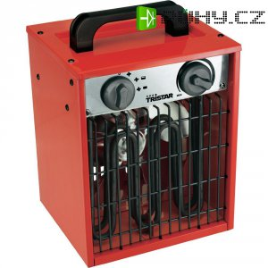Topný ventilátor Tristar KA-5031, ventilace/1000/2000 W, červená/černá