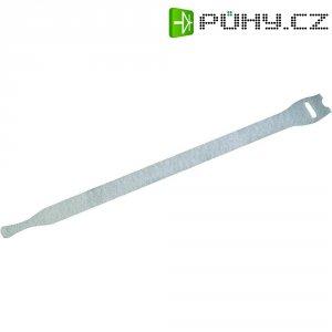 Stahovací páska se suchým zipem, Fastech 801-010C, bílá, 200 mm x 7 mm, 10 ks