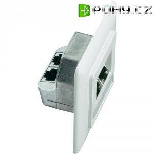 Síťová zásuvka pod omítku Setec 649285, CAT 5e, 2 porty, čistě bílá