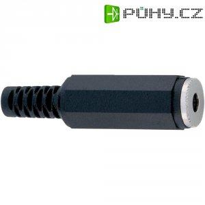 Jack konektor 3,5 mm mono BKL Electronic 72207, zásuvka rovná, 2pól., černá