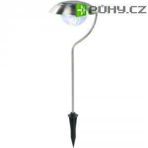 Solární zahradní LED svítidlo, nerez, zapichovací, IP43