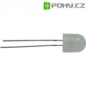 LED dioda kulatá s vývody, 60 mA, 8 mm, 3,4 V, 360 °, zelená