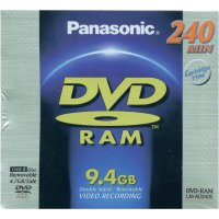 PANASONIC DVD-RAM 9,4GB 3X 1KSJC SCRATCH