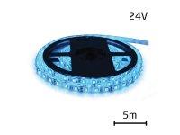 LED pásek 24V 3528 60LED/m IP65 max. 4.8W/m modrá (1ks=cívka 5m) zalitý