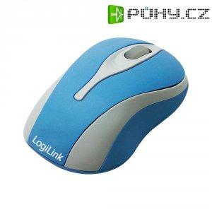 USB myš optická LogiLink ID0022, s podsvícením, modrá