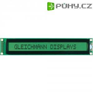 LCD displej 40x2 Gleichmann, GE-C4002A-YYH-JT/R, 13,6 mm, černá, zelená/žlutá