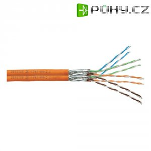 Síťový kabel CAT 7, duplexní, Digitus, 4x2x0.25 mm², oranžový