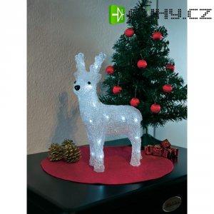 Akrylátový LED sob Konstsmide, na baterie, 24 LED, studená bílá
