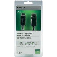 HDMI Belkin Display Port, připojovací kabel 1,8 m, černý