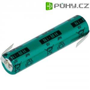 Akumulátor s pájecími kontakty NiMH Sanyo AAA, 1,2 V, 730 mAh