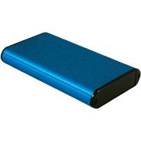 Univerzální pouzdro hliníkové Hammond Electronics, (d x š x v) 120 x 71,7 x 19 mm, modrá