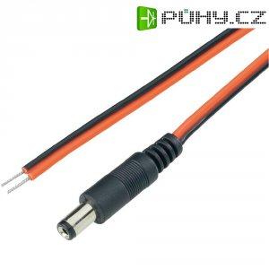 Napájecí kabel zástrčka / otevřený konec BKL 072018, rovná, 5,5/2.5 mm, 2 m, červená/černá