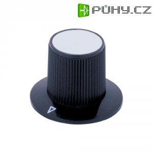 Otočný knoflík, Ø 29/17 mm, V 20 mm, 6 mm, černá