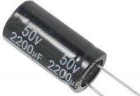 2200u/50V 105° 16x31x7,5mm, elektrolyt.kondenzátor radiální