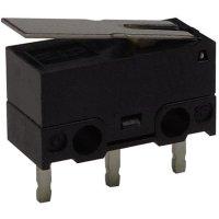 Mikrospínač s páčkou Zippy DF-03S-1P-Z, 125 V/AC, 3 A, do DPS, 1x zap/(zap)
