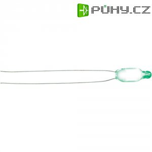 Doutnavka, 0,8 mA, 230 V, 5 x 16 mm, zelená