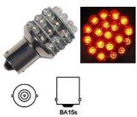 Žárovka LED-36x Ba15S 12V oranžová