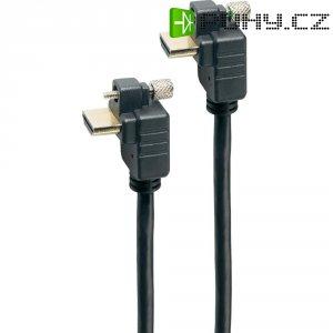High Speed HDMI kabel se šroubovým upevněním, úhlový, 1 m
