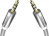 Kabel zásuvka 3,5 mm ⇒ zásuvka 3,5 mm, 1,5 mm, stříbrný, Inakustik