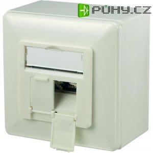 Síťová zásuvka pro povrchovou montáž 2x port, Digitus DN-9006-KL-N-P