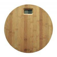 Bambusová osobní váha X4 Life, 150 kg, kulatá