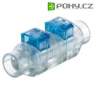 Kabelová spojka TE Connectivity, 293545-2, 0,82 - 1 mm², 2pólová, transparentní/modrá