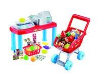 Pokladna dětská G21 + nákupní vozík s příslušenstvím