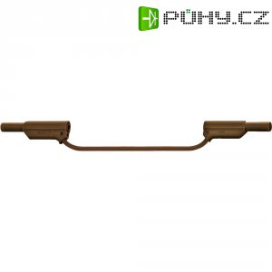 Měřicí silikonový kabel banánek 4 mm ⇔ banánek 4 mm MultiContact XVS-4075, 1 m, hnědá