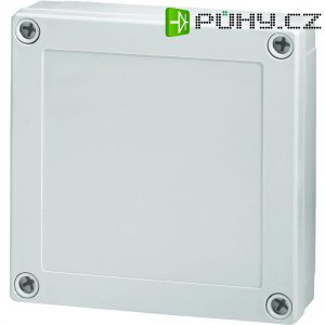 Polykarbonátové pouzdro MNX Fibox, (d x š x v) 180 x 180 x 125 mm, šedá (MNX PCM 175/125 G)