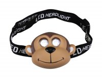 Svítilna čelová LED opička