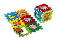 Puzzle KOSTKA MOJE PRVNÍ ZVÍŘÁTKA 15 x 15 cm pěnové 6ks