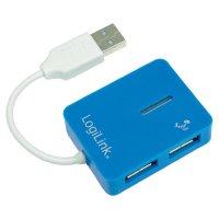 USB 2.0 hub LogiLink UA0136, 4 porty, modrá