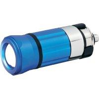 Akumulátorová LED svítilna do auta, modrá
