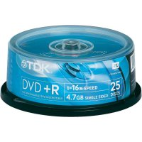 TDK DVD+R 4,7GB 16X 25 ks cakebox