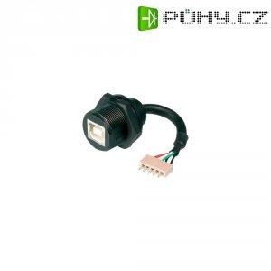USB 2.0 konektor s IP67 ASSMANN WSW B-USB-BPFS, vestavná zásuvka Typ B