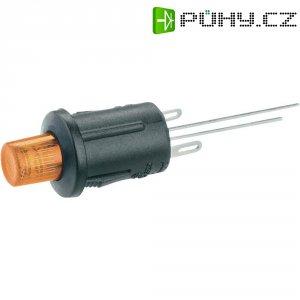 Tlačítkový spínač R13-529BL žlutá LED