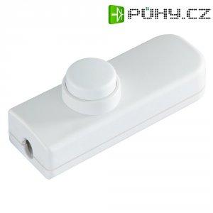 Šňůrový vypínač interBär série 8011, 1pólový, 250 V/AC, 2 A, bílá