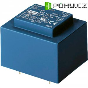 Transformátor do DPS Block EI 42/14,8, 230 V/2x 6 V, 2x 416 mA, 5 VA