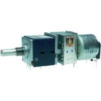Motorizovaný potenciometr prachotěsný Stereo 0.05 W 10 kOhm ALPS RK27112MC 10KBX2 1 ks