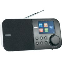 DAB+ rádio Dual DAB 50, FM s RDS, černá/bílá