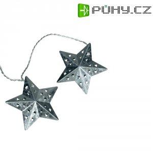 Vnitřní svítící řetěz s hvězdičkami, 10 LED, 2,7 m, teplá bílá