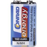 Akumulátor NiMH Conrad energy, 9 V, 160 mAh
