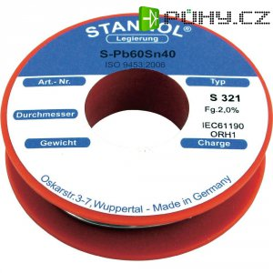 Cínová pájka, Pb60Sn40, Ø 1 mm, 250 g, Stannol S321