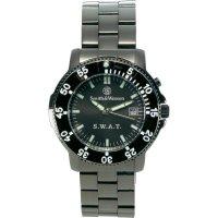 Ručičkové náramkové hodinky S&W Swat, 76041, pásek z nerezové oceli, černá