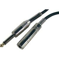 Prodlužovací kabel JACK 6,3 mm Paccs, 6 m, černá