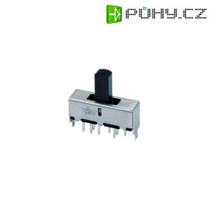 Posuvný přepínač 250 V/AC 1.5 A 2x zap/zap/zap 1 ks