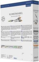 Kabel jack 3,5 mm ⇒ 2x cinch, 3m, stříbrný, Inakustik