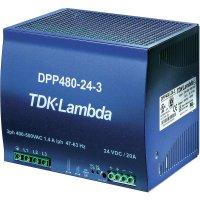 Zdroj na DIN lištu TDK-Lambda DPP480-48-3, 48 V/DC, 10 A