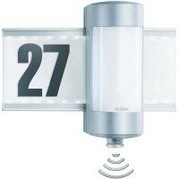 LED osvětlení domovního čísla s PIR + hliníkové světlo Steinel, 2x G9 40 W